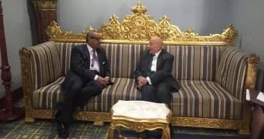 """رئيس """"القومي لحقوق الإنسان"""" يلتقي رئيس الديوان الوطني لحقوق الإنسان بدولة الكويت"""