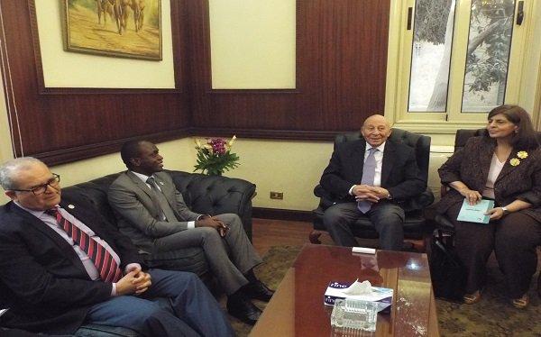 """رئيس """"القومي لحقوق الإنسان"""" يستقبل رئيس المحكمة الإفريقية لحقوق الإنسان"""